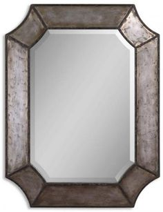Cologne Mirror l Home Decorators Replace Wooden Mirror @ foot of stairs / by Living Room Wall