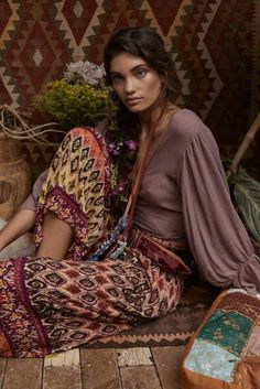 Boho Outfits – Page 9303714905 – Lady Dress Designs Hippie Stil, Estilo Hippie, Boho Hippie, Boho Gypsy, Bohemian Style, Gypsy Style, Boho Outfits, 70s Outfits, Fall Outfits