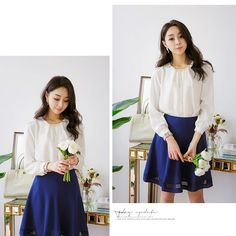 KERRI METAL TOUCH TOP . . . #kfashion #koreanfashion #clothes #ootd #shoppingaddict #Heraposhboutique #instalove #instashop #instaclosethera #Simplestyle #glamour #beauty #gorgeous #Solidkoreanfashion #heraOfficeAttire  #Fashionladies #BeaGorgeousHERA Posh Boutique, Glamour Beauty, Office Attire, Simple Style, Korean Fashion, High Waisted Skirt, Ootd, Blouses, Touch