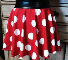 Running skirt designed with the athlete in mind Muffin top free disney princess boston marathon  sparkle minnie mouse pink red polka dot on Etsy, $25.00