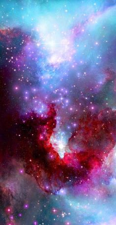 Bright Purple and Blue Nebula