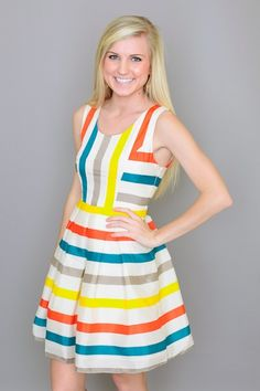 Olivia Stripe Dress