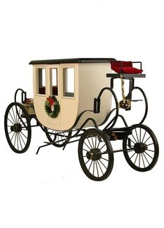 """Travel in the 1800s was very different than it is today. Without cars, people traveled by foot, horse or stagecoach. In 1861, Mark Twain describes the stagecoach in his book """"Roughing It"""" as a cradle on wheels. In fact, because of its unique construction, the stagecoach rocked as it moved instead of bouncing on steel springs. However, many of Twain's fellow travelers might have disagreed -- poor weather, uneven roads, and the fear of bandits made stagecoach travel anything but comfortable… Coach 2014, Decorative Items, Decorative Pillows, Joyce Byers, Horse Carriage, Popsicle Stick Crafts, Velvet Cushions, Christmas Decorations To Make, Christmas Ideas"""