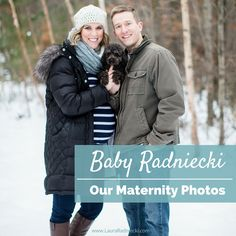 Waiting on Baby Radniecki - Our Maternity Photos 2016 | This post includes photos from our maternity session as we anticipate the arrival of our first baby; a boy. Taken in late January in central Minnesota, we were blessed with a snowy, wintry backdrop for our session. Also included is toy poodle, Remy!