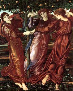 edward burne-jones | The Garden Of The Heserides