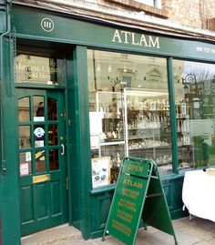 Atlam Antiques | Portobello Road, London front green color