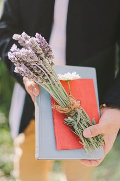 Vintage Books and Dried Lavender   Jenny Sun Photography   A Sweet Love Shoot with a Reem Acra Gown and DIY Details for Valentines Day!