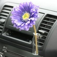 Auto Vase Purple Blue Daisy Flower Decorative Girly Car Accessory