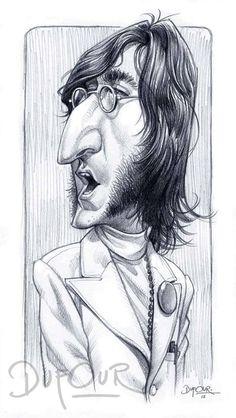 Otra genial obra del artista Santiago Dufour, es esta caricatura del que fuera cantante del grupo más famoso de la historia músical mundial...