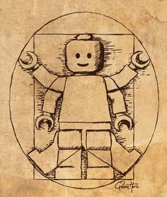 Apr 2nd - Vitruvian Lego Man  -   By QueenHare for the Design Every Day Project
