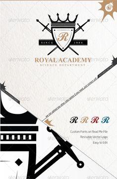 Royal Academy Logo — Vector EPS #restaurant #royal • Available here → https://graphicriver.net/item/royal-academy-logo/3584684?ref=pxcr