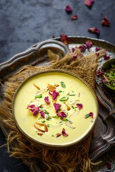 Paneer Kheer is an Indian dessert made using crumbled fresh paneer or chenna. It is easy to make tastes delicious. Here is how to make Paneer Kheer Recipe. Indian Paneer Recipes, Indian Dessert Recipes, Indian Sweets, Gourmet Recipes, Appetizer Recipes, Healthy Recipes, Kheer Recipe, Diwali Food, Keto Friendly Desserts