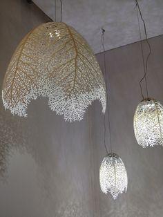 Hyphae by Nervous System Pendant Lighting, Chandelier, Lamp Shades, Led Lamp, Nervous System, Textile Art, Architecture Design, Ceiling Lights, Marketing
