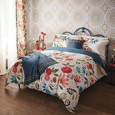 Buy Harlequin Caspia Floral Bedding, Oxford pillowcase from our Duvet Covers range at John Lewis. Free Delivery on orders over Linen Bedroom, Linen Bedding, Bedroom Decor, Bedroom Ideas, Bed Linens, Bedroom Designs, Bedroom Inspiration, Interior Inspiration, Bedding