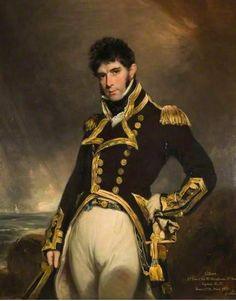 Captain Gilbert Heathcote Rn, 1779-1831 by William Owen. Birmingham Museum & Art Gallery...That pose...