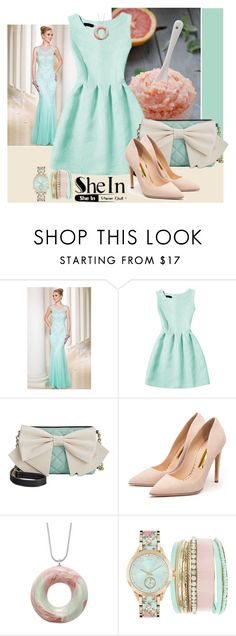 """""""Shein"""" by irinavsl ❤ liked on Polyvore featuring Sean Collection, Betsey Johnson and Rupert Sanderson"""