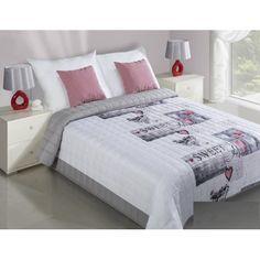Sweet home bílo šedý prošívaný přehoz na postel - dumdekorace.cz