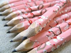 mini washiwrapped japanese pencils  set of 10  by maoiliosa, $9.00