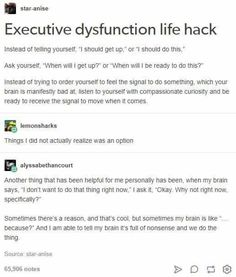 More people need to know about executive dysfunction and how it affects you! Info Board, Life Advice, Good Advice, Trauma, Gemini, Mental Health Awareness, Things To Know, Self Improvement, Self Help