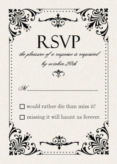 Spooktacular Halloween Wedding Invitations | Gothic wedding ...