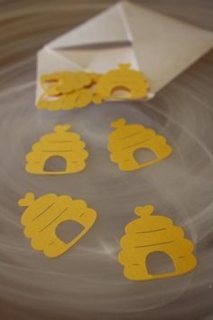 Bumble Bee Hive Heart Table Confetti / Party by Foolishworkerbee, $3.00