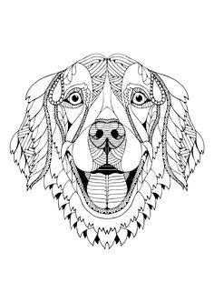 kostenloses ausmalbild hund - collie. die gratis mandala