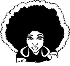 free woman silhouette clip art black female afro silhouette clip rh pinterest co uk