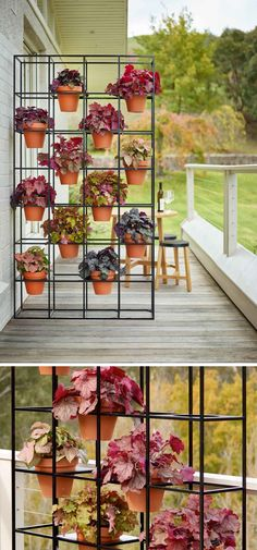 Use a standalone vertical garden outdoors to create a separation between spaces.
