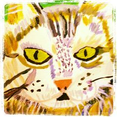 Kitty painting!