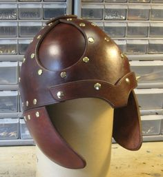 Leather Helmets, Viking and other styles.