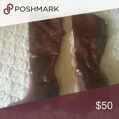 New brown boots 6.5 New never worn 6.5 adorable boots Dollhouse Shoes Heeled Boots