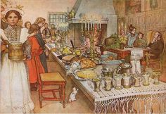 Christmas Eve by Carl Larsson, 1904. Image courtesy of Wiki Commons