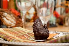 Thanksgiving tablescape and chocolate turkey