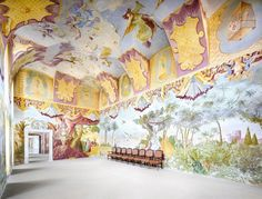 Benediktinerstift Altenburg VI 2014. This fabulously detailed, inventive fresco is the work of 18th-century Austrian artist Paul Troger, whose paintings decorate many of Altenburg Abbey's lofty rooms. Together, these works comprise his most ambitious project.