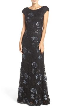 Vera Wang Sequin Lace Gown available at #Nordstrom