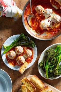 From fresh-delivered ingredients to 20 delicious recipes to choose from, here's why you'll love Martha and Marley Spoon's new meal kit. Dinner Menu, Dinner Recipes, French Green Lentils, Moroccan Spices, Pork Meatballs, Homemade Tomato Sauce, Easy Weeknight Dinners, Side Salad, Healthy Dishes