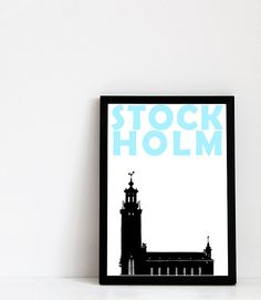 Stockholm Print A4 Scandinavian Print Swedish Art by Pomalia