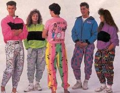 "1990s Raver Fashion was used to describe what youthful generation would wear to ""rave"" parties.  Typically this style consisted of baggy, bright and/or patterned clothing that also reflected some similarities to what hippies wore in the 1970s."