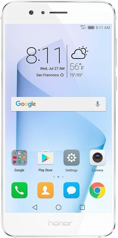 Huawei Honor 8 Dual Camera Unlocked Phone 32GB - Pearl White - GSM - US Warranty: Cell Phones & Accessories