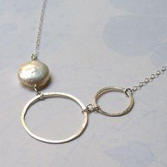 hammered steel necklace