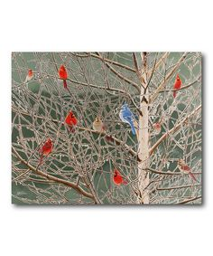 Winter Frosted Wrapped Canvas