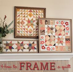 Say bye-bye to binding when you frame your quilts - what a beautiful finish!