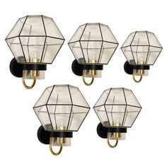 Set of Five Large Modernist Sconces Wall Lamps by Limburg, Germany, 1960s   1stdibs.com