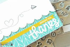 """I love my Brutus Monroe supplies so I like to combine as many of them on a card as I can. I wanted to show you a few simple """"Thank You"""" cards today though that"""