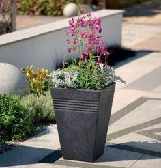 Plastic Garden Planters Flowers Plant Stand Balcony Patio Planter Outdoor Decor