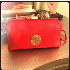 Red Mulberry makeup bag New never used. Mulberry by target Mulberry Bags Cosmetic Bags & Cases
