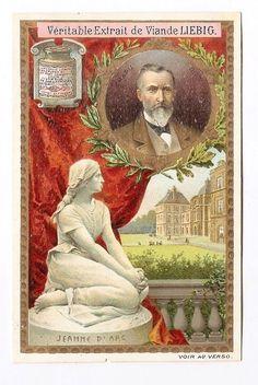 Chapu - Statue Jeanne d Arc - Sculpteur Artiste  - Chromo Liebig - Trade Card