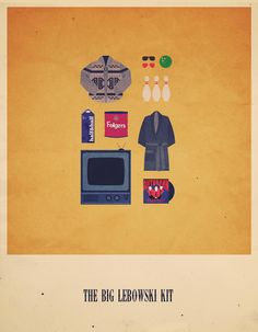 The Big Lebowski [Joel & Ethan Coen, 1998] «Movies Hipster Kits Author: Alizée Lafon»