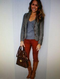 Grey + burgundy