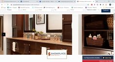 "Showplace bath and its offerings have grown a lot in just a very few years, to the point that the label ""semi-custom"" hardly fits anymore. Custom Cabinetry, Made In America, Custom Paint, Kitchen And Bath, Master Bathroom, Furniture, Home Decor, Custom Closets, Master Bath"